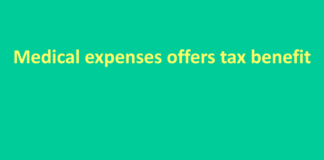 Medical expenses offers tax benefit