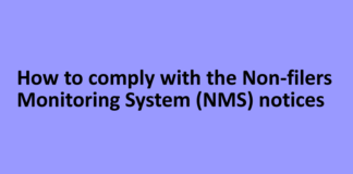 How to comply with the Non-filers Monitoring System (NMS) notices