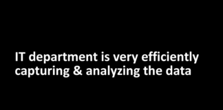 IT department is very efficiently capturing & analyzing the data