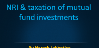 NRI & taxation of mutual fund investments
