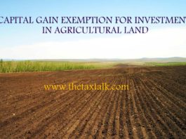 CAPITAL GAIN EXEMPTION FOR INVESTMENT IN AGRICULTURAL LAND