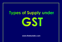 Types of Supply under GST