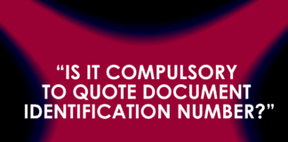 IS IT COMPULSORY TO QUOTE DOCUMENT IDENTIFICATION NUMBER?""