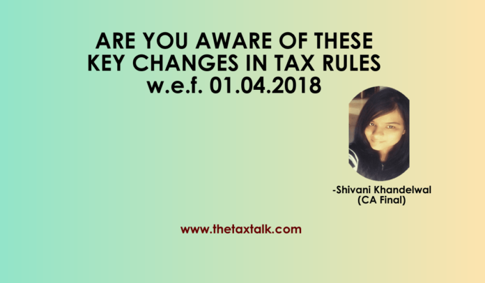 CHANGES IN TAX RULES