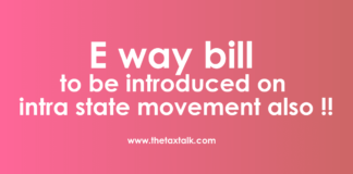 E way bill intra state