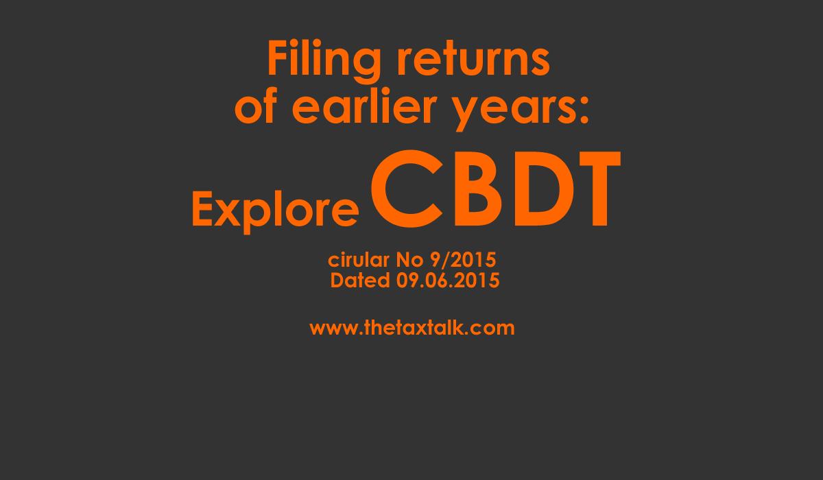 CBDT cirular No 9/2015