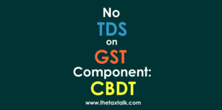 No TDS on GST Component
