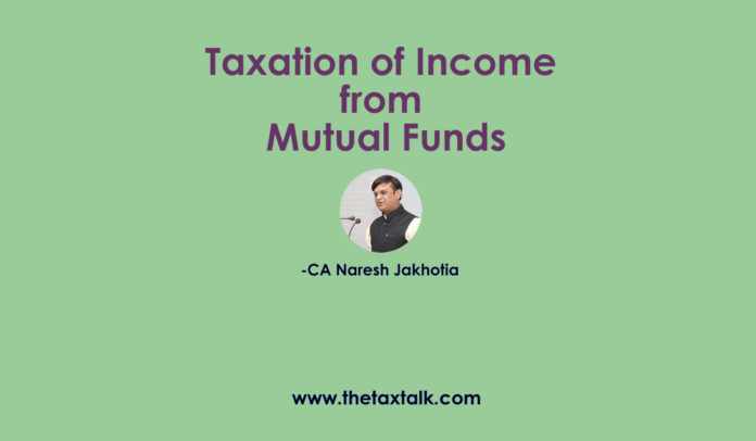 Taxation of Income from Mutual Funds