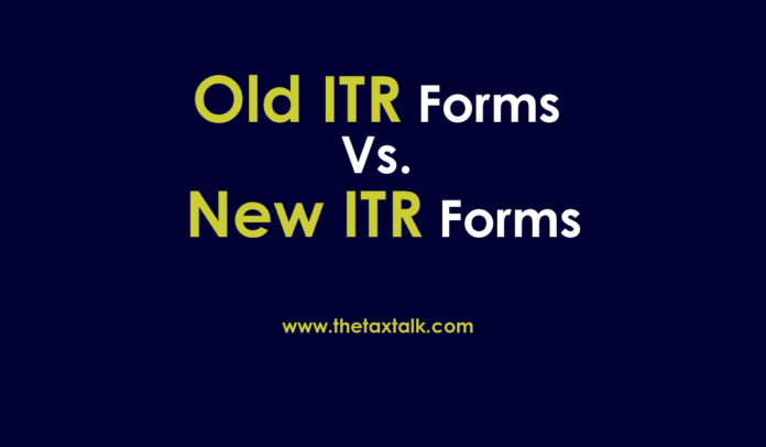 Old ITR Forms