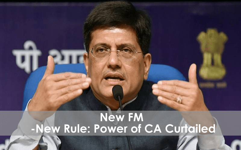 Power of CA Curtailed