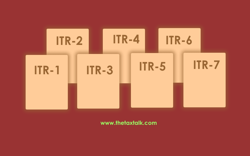 Applicability of ITR forms for taxpayer
