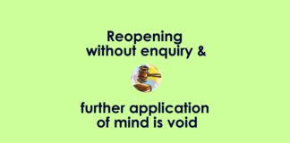 Reopening without inquiry