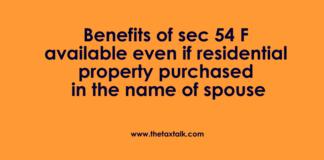 Benefits of sec 54 F