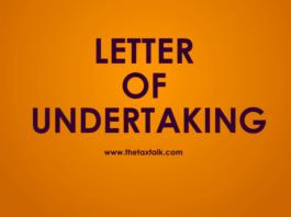 LETTER OF UNDERTAKING