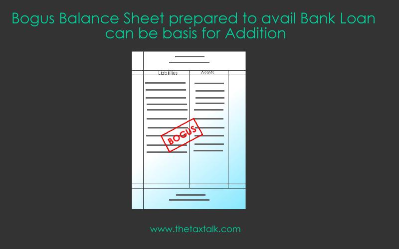 bogus balance sheet