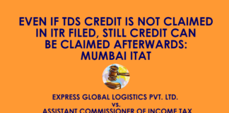 TDS CREDIT IS NOT CLAIMED