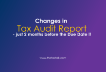 Changes in Tax Audit Report