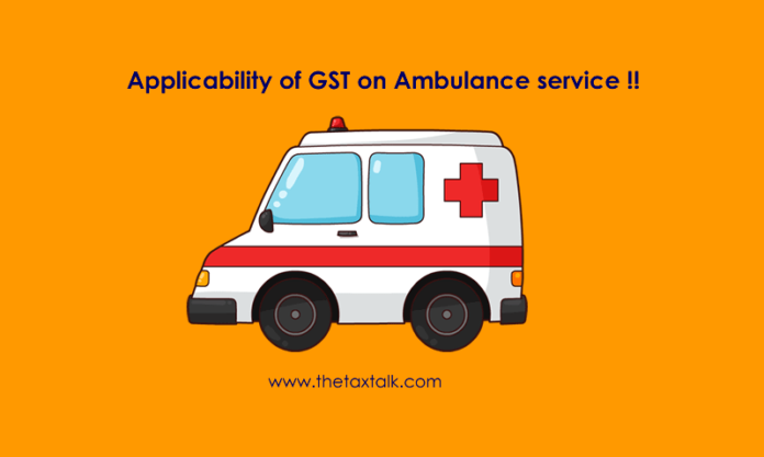 GST on Ambulance service