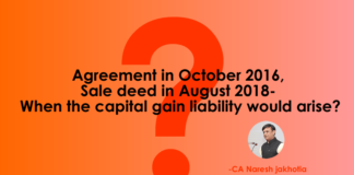 When the capital gain liability would arise