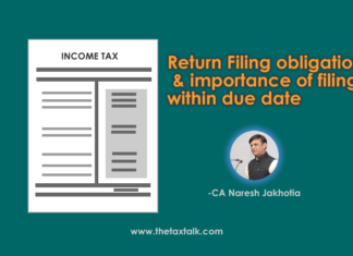importance of filing returns within due date