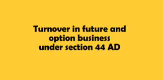 Turnover in future and option business under section 44 AD