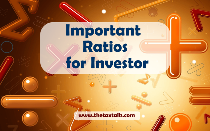 Important Ratios for Investor