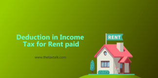 Deduction in Income Tax for Rent paid