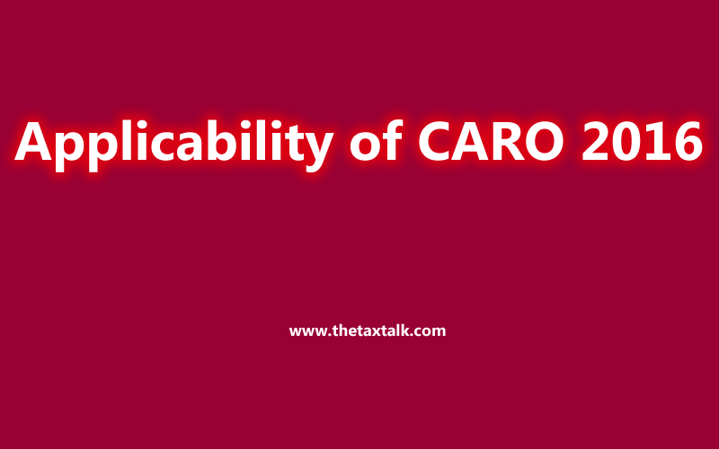Applicability of CARO 2016