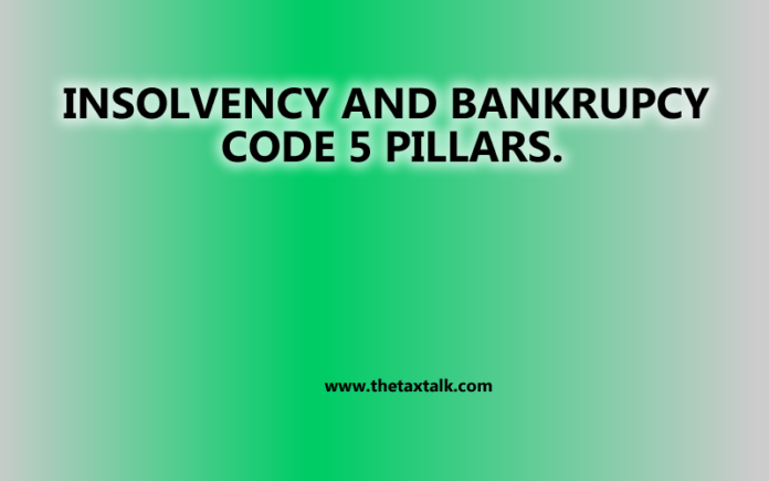 INSOLVENCY AND BANKRUPCY CODE 5 PILLARS.