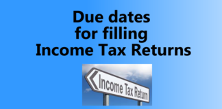 Due dates for filling Income Tax Returns