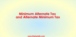 Minimum Alternate Tax and Alternate Minimum Tax.