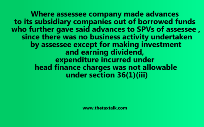 finance charges was not allowable under section 36(1)(iii)
