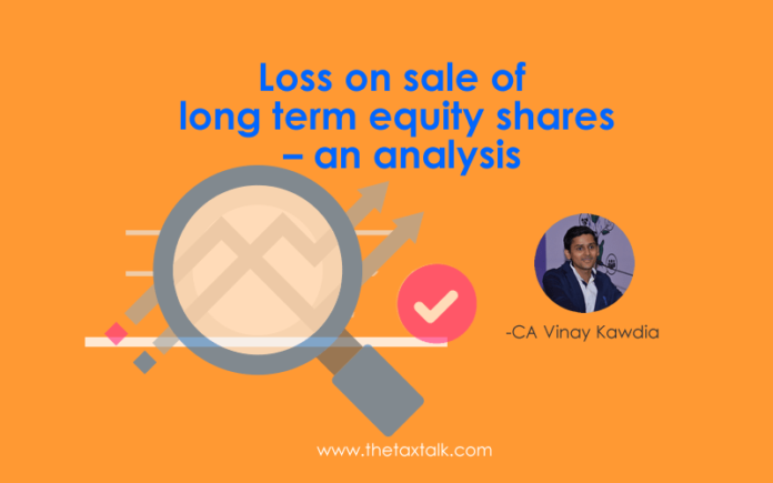 Loss on sale of long term equity shares – an analysis