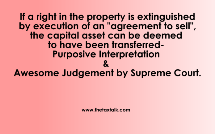 Purposive Interpretation & Awesome Judgement by Supreme Court.