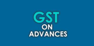 GST ON ADVANCES