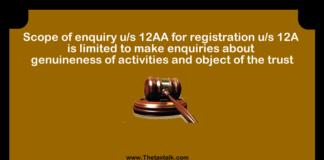u/s 12AA for registration u/s 12A