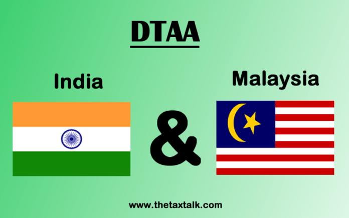 DTAA between India and Malaysia