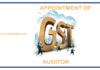 APPOINTMENT OF GST AUDITOR