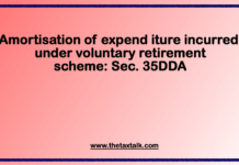 Amortisation of expenditure incurred under voluntary retirement scheme: Sec. 35DDA