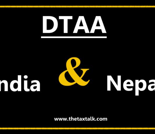 DTAA between India and Nepal