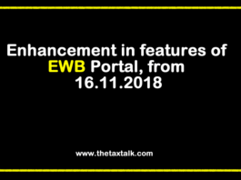 Enhancement in features of EWB Portal, from 16.11.2018