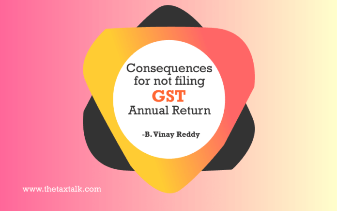 Consequences for not filing GST Annual Return -2