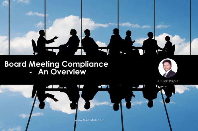 Board Meeting Compliance - An Overview