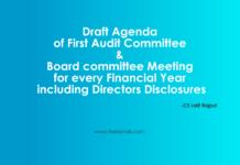 Draft agenda -CS Lalit Rajput