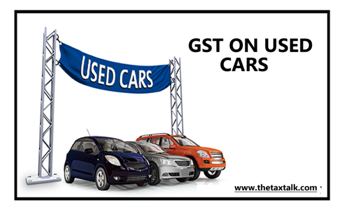 GST ON USED CARS