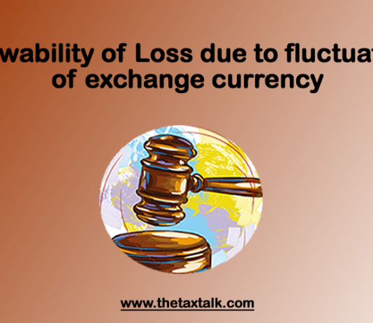 Allowability of Loss due to fluctuation of exchange currency