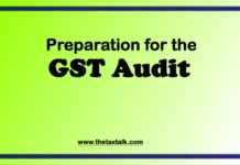 Preparation for the GST Audit