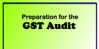 Preparation for the GST Audit