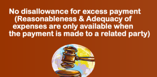 No disallowance for excess payment (Reasonableness & Adequacy of expenses are only available when the payment is made to a related party)