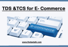 TDS & TCS for E- Commerce